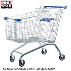 SS Shopping Trolley With Baby Seater