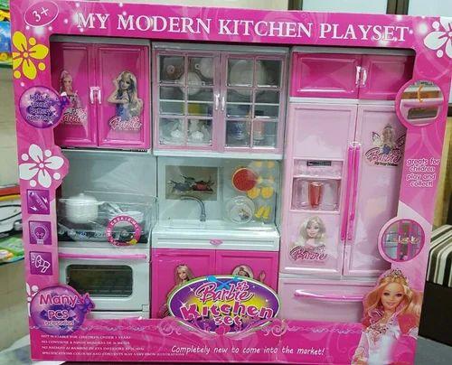 Pink Barbi Kitchen Set Toy Size Dimension Big 2feet Rs 1399 Box