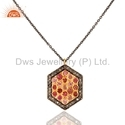 925 Silver Pave Diamond Pendant