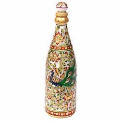 Meenakari Work Marble Wine Bottle Mb015
