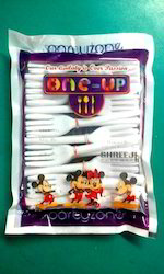 Partyzone One-Up Plastic Disposable Fork, For Party,Restaurant etc