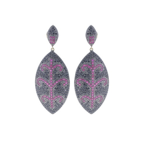 Chic Designs Tourmaline Diamond Earrings, Size: Mm