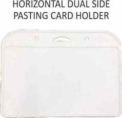 Horizontal Dual Side Pasting Card Holder