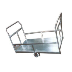 Harrison's Stainless Steel Heavy Platform Cart Trolley, For Material Handling, Load Capacity: 800 kgs