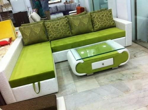 Sofa And Sofa Set - Corner Sofa Leather Finish Manufacturer From Mumbai