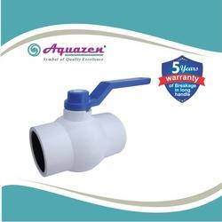 White Solid Ball Valve