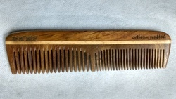 Sisam Wood Comb Pocket Size Fine And Coarse Teeth Comb