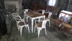 Dining Table with Cello Arm Chair Set