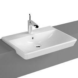 Hindware Ceramic Semi Recessed Basin, For Hand Wash