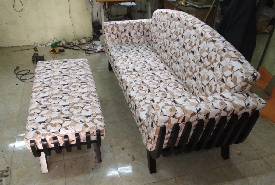 Rectangular Wooden Sofa Set, For Home,Office etc, Rs 19000 ...