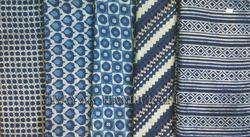 Small Booti Blue Block Printed Fabric