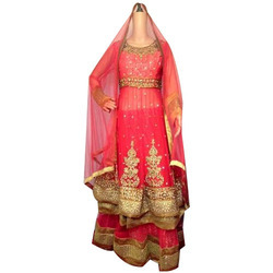 Labisa Red Designer Sharara