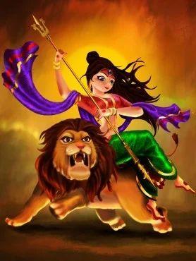 Durga Maa Oil Painting