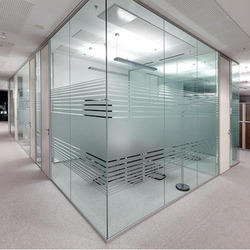 Plain And Embossed Transparent Glass Partition