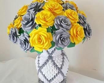 3d origami rose vase at rs 750 piece flower vase id 16577887088 3d origami rose vase mightylinksfo Images
