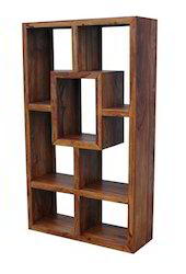 Sheesham Wood Tall Display Shelf Yoga Range