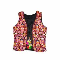 Quilted Jacket Sleeveless Embroider Jaipuri Jacket