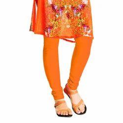 Ladies Orange Plain Leggings