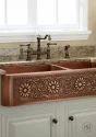 Single Copper Antique Wash Basin