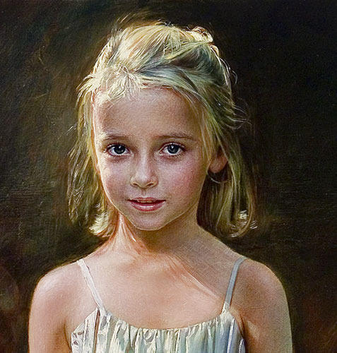 Girls Portrait In Oil Medium At Rs 5000 Pieces  Oil -9836