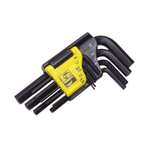 GB Tools Plastic Clip Allen Key Sets 1208 1208020 9 Pcs