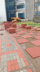 RED Sandstone Tiles, For Landscaping And Pavement