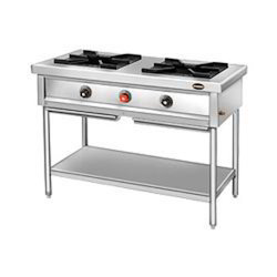 KITCHEN CONCEPT White 2 Burner Range, For Cooking Purpose, for Commercial