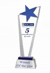 Charming Sensation Star Crystal Trophy, Shape: Custom Shape