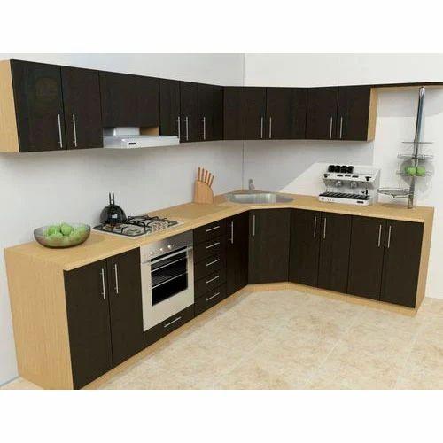 L Shaped Modular Kitchen At Rs 113000 Set L Shape Modular Kitchen