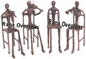 Metal Sculptures Musical Figurines