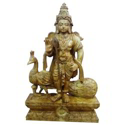 Lord Muruga In Teakwood 2 Foot Statues