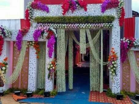 Flower gate decoration services in ripon street kolkata mahan flower gate decoration services junglespirit Images