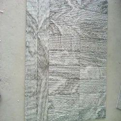 B Black Ruffled Mosaic Tile
