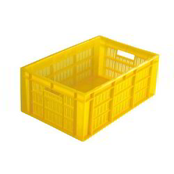 Yellow Fishing Plastic Crate