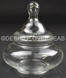 Pot Shape Clear Glass Jar