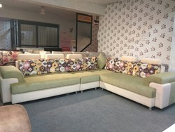 Leather L Shape Corner Sofa Set