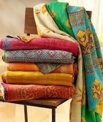 Reversible Kantha Blanket