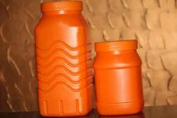 REGULAR White Glucose powder jar, Size: 500, 1 Kg, 83mm