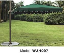Designer Furniture Green and Maroon Patio Umbrella, Size: Standard