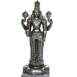 5 Ft 6 Inches Divine Black Stone Lord Srinivasa Maha Prabhu