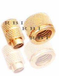 Golden Round Brass Insert, For Pipe Fitting