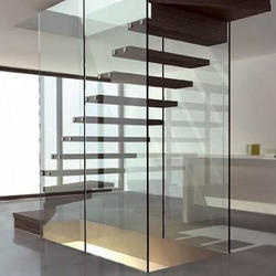 Stylish Full Glass Stairs