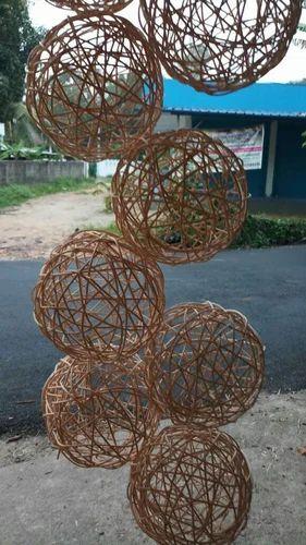 Natural Natiral Cane Decorative Balls Rs 40 Piece Eventa India Unique Natural Decorative Balls