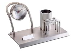 Rotating Desk Clock with Penstand and Card Holder
