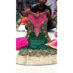 Women Silk Hand Embroidery Suits