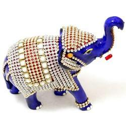 MT015 Stone Studded Elephant Trunk Up