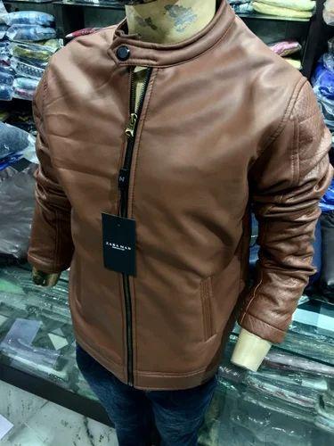 61e86d03 Men Leather Jacket, Gents Leather Jackets - Sainath Sales, Nagpur ...