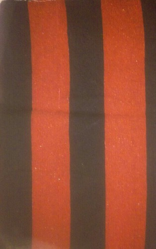 M L Textile Red and black Cotton Durries, Size: 6x9 feet