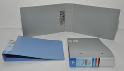 Plastic Grey And Blue Punchless File