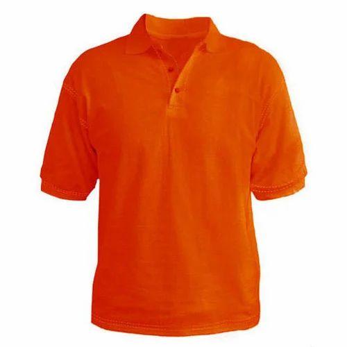 36b3724a Plain Orange Polo T-Shirt at Rs 199 /piece | Polo T Shirt | ID ...